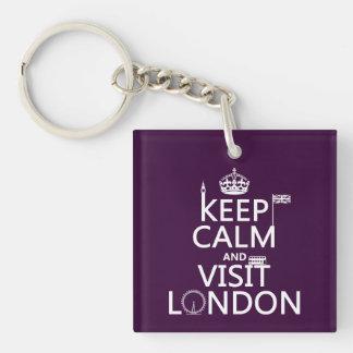 Porte-clefs Maintenez calme et visite Londres