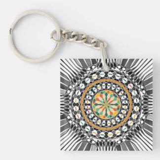 Porte-clefs Mandala contrasté