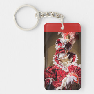 Porte-clefs Masque rouge de carnaval à Venise, Italie