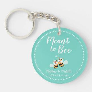 Porte-clefs Menthe élégante à la faveur mignonne de mariage