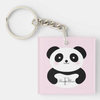Porte-clefs Monogramme Girly mignon d'ours panda de bébé