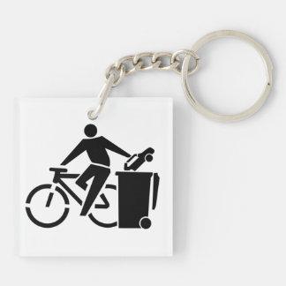 Porte-clefs Montez un vélo pas une voiture
