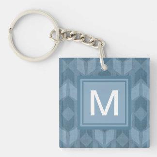 Porte-clefs Motif bleu extérieur de flèche d'étape | de Geo