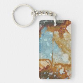 Porte-clefs Motif coloré de pierre de jaspe