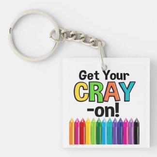 Porte-clefs Obtenez votre Cray sur le professeur d'art fou de