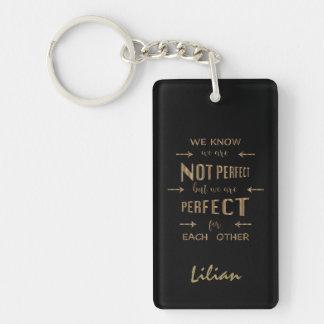 Porte-clefs Or nous sommes parfaits l'un pour l'autre