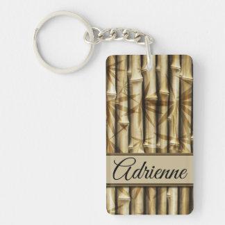 Porte-clefs | personnalisé votre bois en bambou | élégant