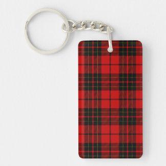 Porte-clefs Plaid noir rouge de tartan de clan de Brodie