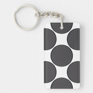 Porte-clefs Point gris-foncé