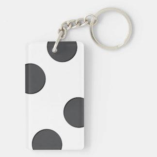 Porte-clefs Points gris-foncé Checkered