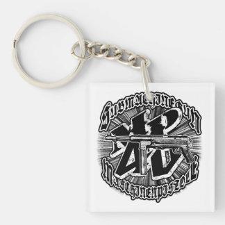 Porte-clefs Porte - clé acrylique (double face) de carré de la
