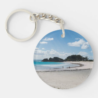 Porte-clefs Porte - clé clair de plage de ciel