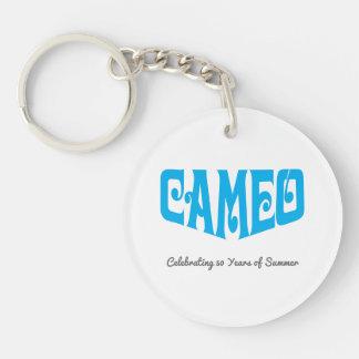 Porte-clefs Porte - clé de cercle avec le logo bleu de camée