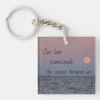 Porte-clefs Porte - clé de fond de photo de poésie de rapport