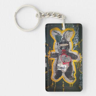 Porte-clefs Porte - clé de lapin de Je T'aime
