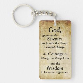 Porte-clefs Porte - clé de prière de sérénité