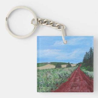 Porte-clefs Porte - clé de route de campagne