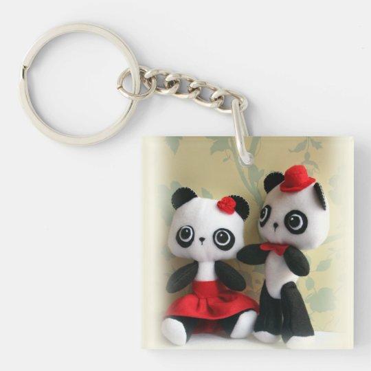 porte clefs porte cl mignon de couples d 39 ours panda. Black Bedroom Furniture Sets. Home Design Ideas