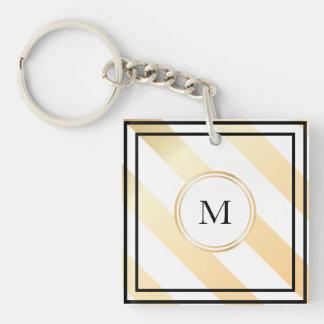 Porte-clefs Porte - clé rayé diagonal du monogramme |