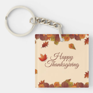 Porte-clefs Porte - clé simple du thanksgiving | de feuille