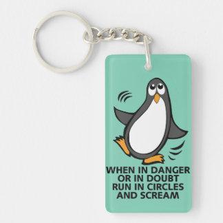Porte-clefs Quand en danger ou dans le graphique drôle de