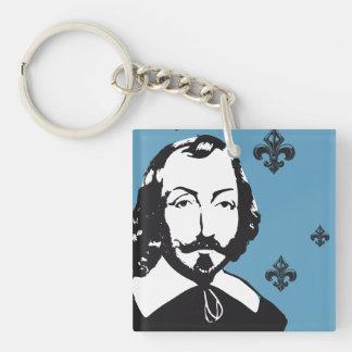 Porte-clefs Québec Samuel de Champlain 1608 Signature Français