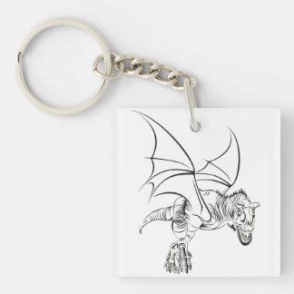 Porte-clefs Raptor à ailes/tribal