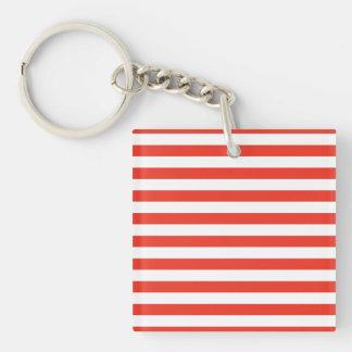 Porte-clefs Rayures rouges horizontales