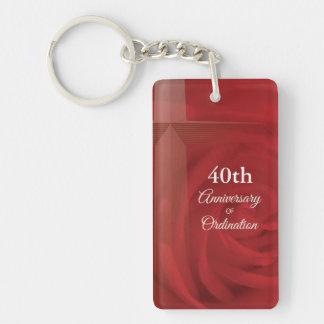 Porte-clefs Rose rouge de prêtre de classification nommée