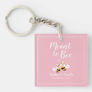 Porte-clefs Signifié à la faveur rose élégante lunatique de