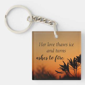 Porte-clefs Son porte - clé romantique de poésie de photo de