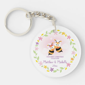 Porte-clefs Souvenir mignon de M. et de Mme Honey Bee First