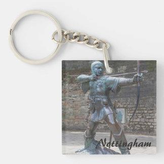 Porte-clefs Statue de Robin Hood par la photo de château de