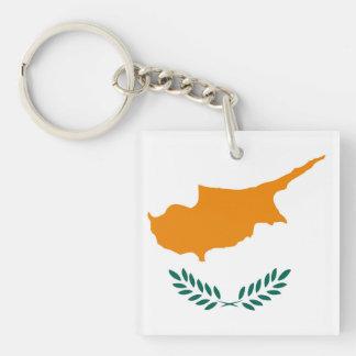 Porte-clefs Symbole de drapeau de pays de la Chypre longtemps