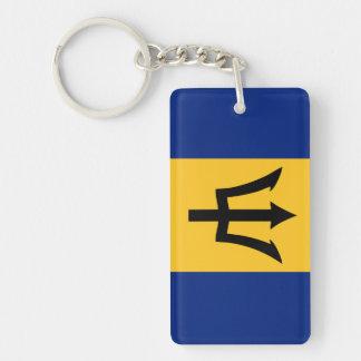 Porte-clefs Symbole de drapeau de pays des Barbade longtemps