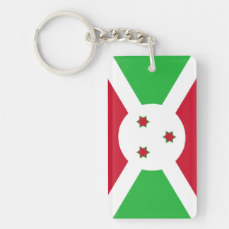 Porte-clefs Symbole de drapeau de pays du Burundi longtemps