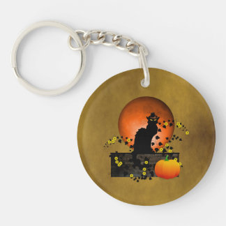 Porte-clefs Thanksgiving Noir de conversation
