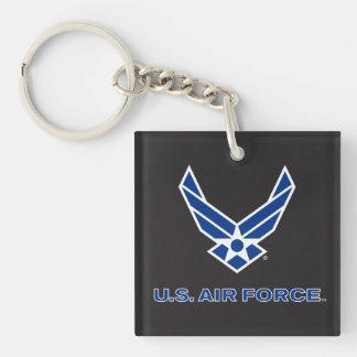 Porte-clefs U.S. Logo de l'Armée de l'Air - bleu