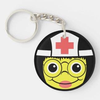 Porte-clefs Visage d'infirmière