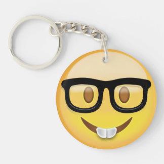 Porte-clefs Visage nerd Emoji