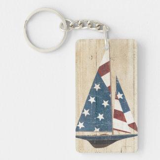 Porte-clefs Voilier avec le drapeau américain