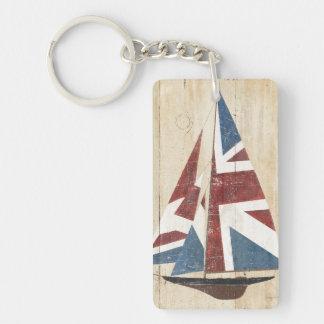Porte-clefs Voilier britannique de drapeau