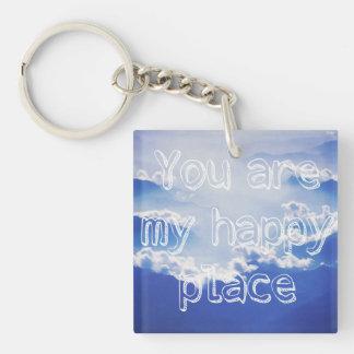Porte-clefs Vous êtes mon endroit heureux