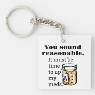 Porte-clefs Vous retentissez l'heure raisonnable de lever Meds