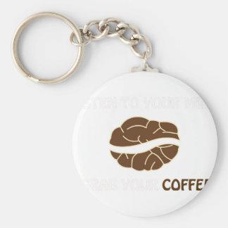 Porte-clés 01-Grab votre tasse de noir 2 de café