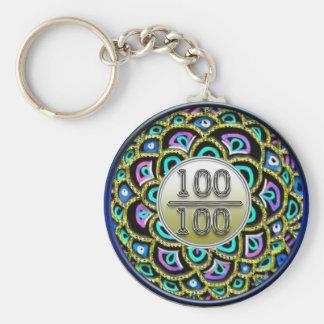 Porte-clés 100/100 porte - clé d'éloge