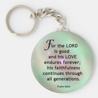 Porte-clés 100:5 de psaume