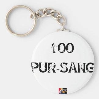Porte-clés 100 PUR-SANG - Jeux de Mots - Francois Ville