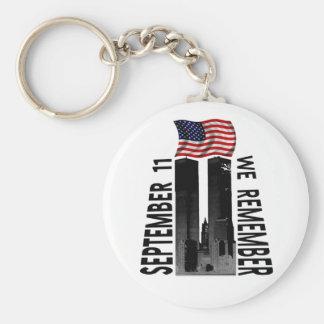 Porte-clés 11 septembre nous nous rappelons l'hommage