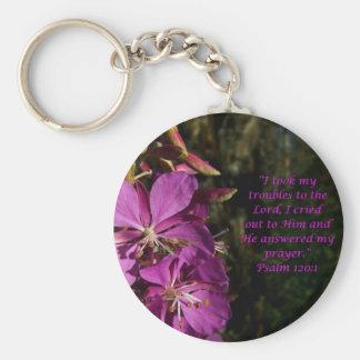 Porte-clés 120:1 de psaume encourageant le porte - clé de
